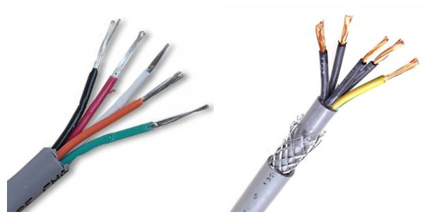 China cheap 5 core shielded cable