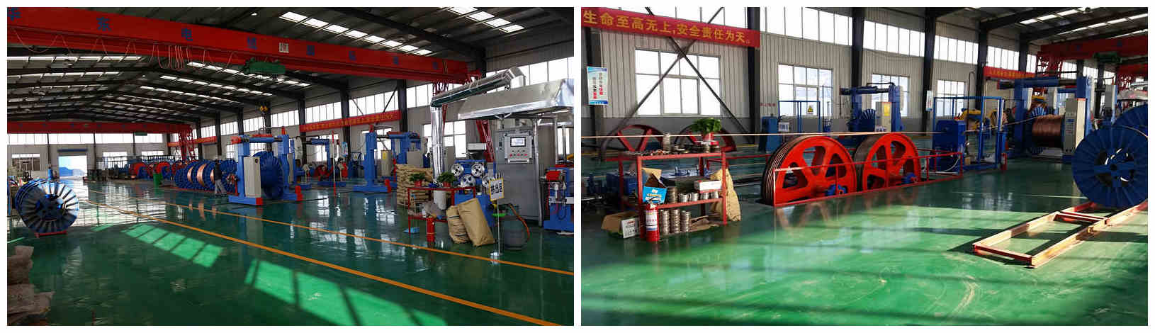 Huadong Control Cable Factory Display