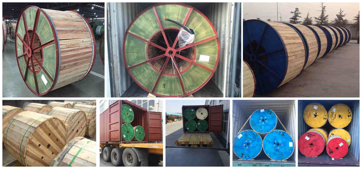Huadong single core screened cable packaging and delivery